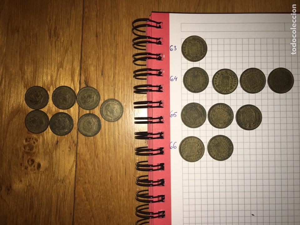 LOTE 17 MONEDAS 1 PESETA 1963 (Numismática - España Modernas y Contemporáneas - Estado Español)