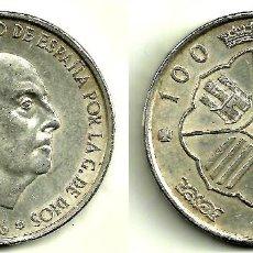 Monedas Franco: ESTADO ESPAÑOL. 100 PESETAS DE 1966(*19-67) PLATA (MBC). Lote 110621963
