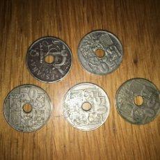 Monedas Franco: LOTE 5 MONEDAS 50 CENTIMOS 1949 (3) Y 1963 (2). Lote 110761794