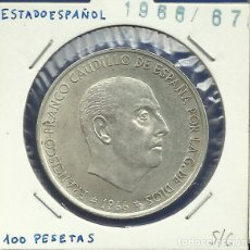Monedas Franco: ESTADO ESPAÑOL 100 PESETAS PLATA 1966 *19-67 S/C. Lote 110772099