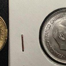 Monedas Franco: LOTE DE 2 MONEDAS. 1 PESETA 1963*63 SC Y 5 PESETAS 1957 *58 SC.. Lote 110827375