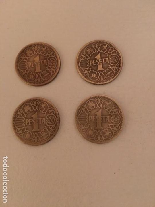 LOTE DE 4 MONEDAS DE 1 PESETA DE 1944 MBC (Numismática - España Modernas y Contemporáneas - Estado Español)
