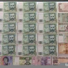 Monedas Franco: INCREÍBLE LOTE DE BILLETES S/C PLANCHA . Lote 112446179