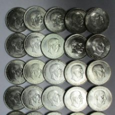 Monedas Franco: CONJUNTO DE 25 MONEDAS DE 100 PESETAS DE PLATA DEL ESTADO ESPAÑOL, VARIAS FECHAS. LOTE 0890. Lote 112910451