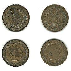 Monedas Franco: 2 MONEDAS DE 1 PESETA DE 1947 (*53). Lote 113054727