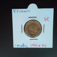 Monedas Franco: 1 PESETA DE 1966 *72 SIN CIRCULAR. ES LA DE LAS FOTOS. Lote 113302419