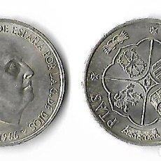 Monedas Franco: MONEDA DE PLATA DE 100 PESETAS FRANCISCO FRANCO DEL AÑO 1966/66 S/C. Lote 113333455