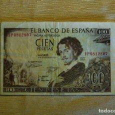 Monedas Franco: BILLETE DE 100 PESETAS. 19 DE NOVIEMBRE DE 1.965. Lote 113969943