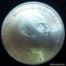 Monedas Franco: MONEDA DE PLATA. 100 PESETAS. FRANCO. AÑO 1966. ESTRELLAS VISIBLES 19* 69* PALO RECTO SIN CIRCULAR.. Lote 114881655