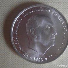 Monedas Franco: 100 PESETAS DE PLATA DE FRANCISCO FRANCO DE 1966 * 66 SIN CIRCULAR CON BRILLO ORIGINAL. KM 797. Lote 141787734