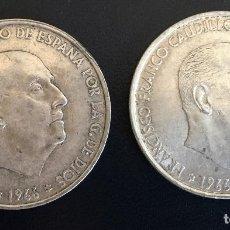 Monedas Franco: DOS MONEDAS DE 100 PESETAS 1966. PLATA. Lote 115094679