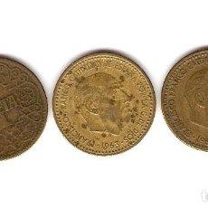 Monedas Franco: F20 - TRES MONEDAS DE PESETA. Lote 115269355