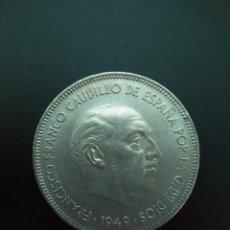 Monedas Franco: PRECIOSA MONEDA DE 5 PESETAS DE 1949 *19 *50 DURO CABEZÓN . . ES LA DE LAS FOTOS. Lote 115327959
