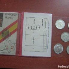 Monedas Franco: RARO ESTUCHE CON LAS 5 MONEDAS DE 100 PESETAS DE PLATA EMISION DE 1966, INCLUIDA EL 69 DE PALO RECTO. Lote 115465351