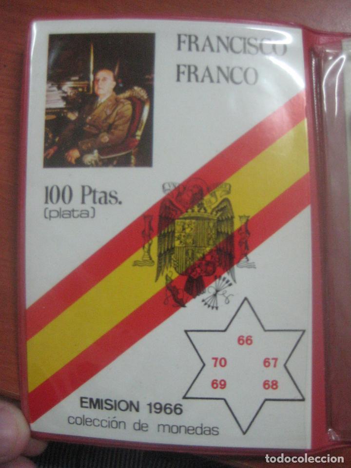 Monedas Franco: RARO ESTUCHE CON LAS 5 MONEDAS DE 100 PESETAS DE PLATA EMISION DE 1966, INCLUIDA EL 69 DE PALO RECTO - Foto 9 - 115465351