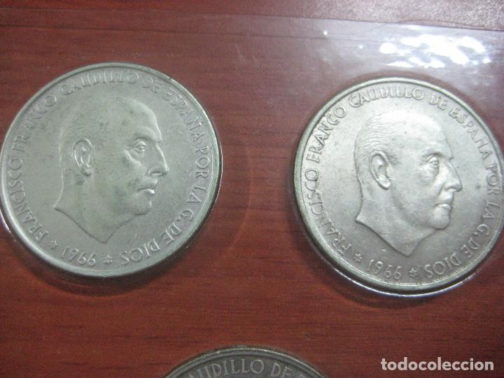 Monedas Franco: RARO ESTUCHE CON LAS 5 MONEDAS DE 100 PESETAS DE PLATA EMISION DE 1966, INCLUIDA EL 69 DE PALO RECTO - Foto 11 - 115465351