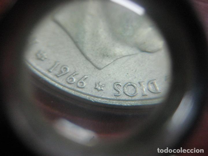 Monedas Franco: RARO ESTUCHE CON LAS 5 MONEDAS DE 100 PESETAS DE PLATA EMISION DE 1966, INCLUIDA EL 69 DE PALO RECTO - Foto 14 - 115465351