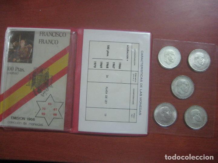 Monedas Franco: RARO ESTUCHE CON LAS 5 MONEDAS DE 100 PESETAS DE PLATA EMISION DE 1966, INCLUIDA EL 69 DE PALO RECTO - Foto 17 - 115465351