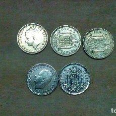 Monedas Franco: 5 MONEDAS DE 1 PTA DE 1975, DE LOS AÑOS 76, 77 ,78 ,79 Y 80. Lote 115624035