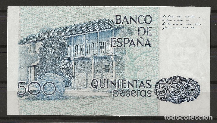 Monedas Franco: R35/ BILLETE DE 500 PESETAS, 1979 - Foto 2 - 115911819