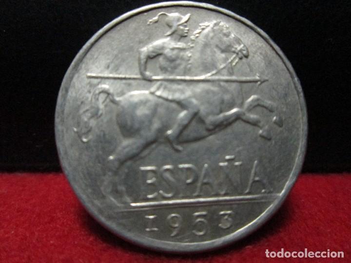 EXCELENTES 10 CENTIMOS 1953 SINCIRCULAR (Numismática - España Modernas y Contemporáneas - Estado Español)