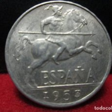 Monedas Franco: EXCELENTES 10 CENTIMOS 1953 SINCIRCULAR. Lote 116355787