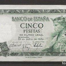 Monedas Franco: R35/ BILLETE DE 5 PESETAS, 1954. Lote 116452603