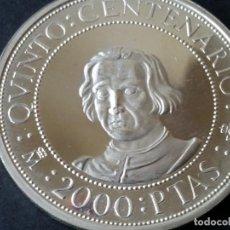 Monedas Franco: ESPAÑA-MONEDA- 2000 PESETAS 1989 PLATA ( ENCAPSULADA ) SC UNC ( G050 ). Lote 117139431