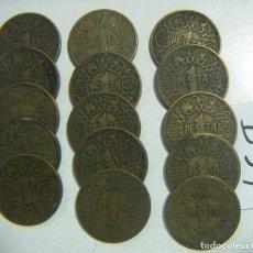 Monedas Franco: LOTE DE 15 MONEDAS DE FRANCO 1 PESETA 1944 . Lote 117370855