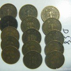 Monedas Franco: LOTE DE 15 MONEDAS DE FRANCO 1 PESETA 1944 . Lote 117370967