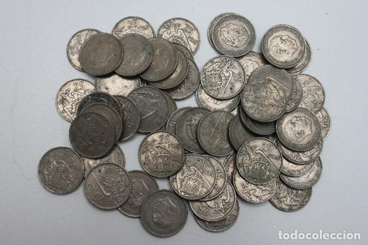 55 MONEDAS DE 25 PESETAS FRANCO (Numismática - España Modernas y Contemporáneas - Estado Español)
