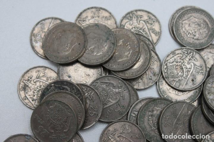 Monedas Franco: 55 MONEDAS DE 25 PESETAS FRANCO - Foto 2 - 117453271