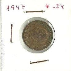 Monedas Franco: 1 PTS. ESPAÑA DE FRANCO AÑO 1947 * 54. Lote 117862419