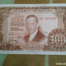 Monedas Franco: BILLETE DE 100 PESETAS. JULIO ROMERO. BUEN ESTADO. 2 L 437.636 7.04.1.953 AUTENTICO. FOTOS VARIAS.. Lote 118125611
