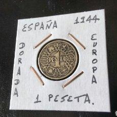 Monedas Franco: MONEDA 1 PESETA ESPAÑA 1944 MBC ENCARTONADA. Lote 121000920