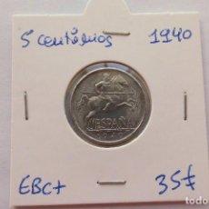 Monedas Franco: 5 CENTIMOS 1940 EBC+. Lote 120297703