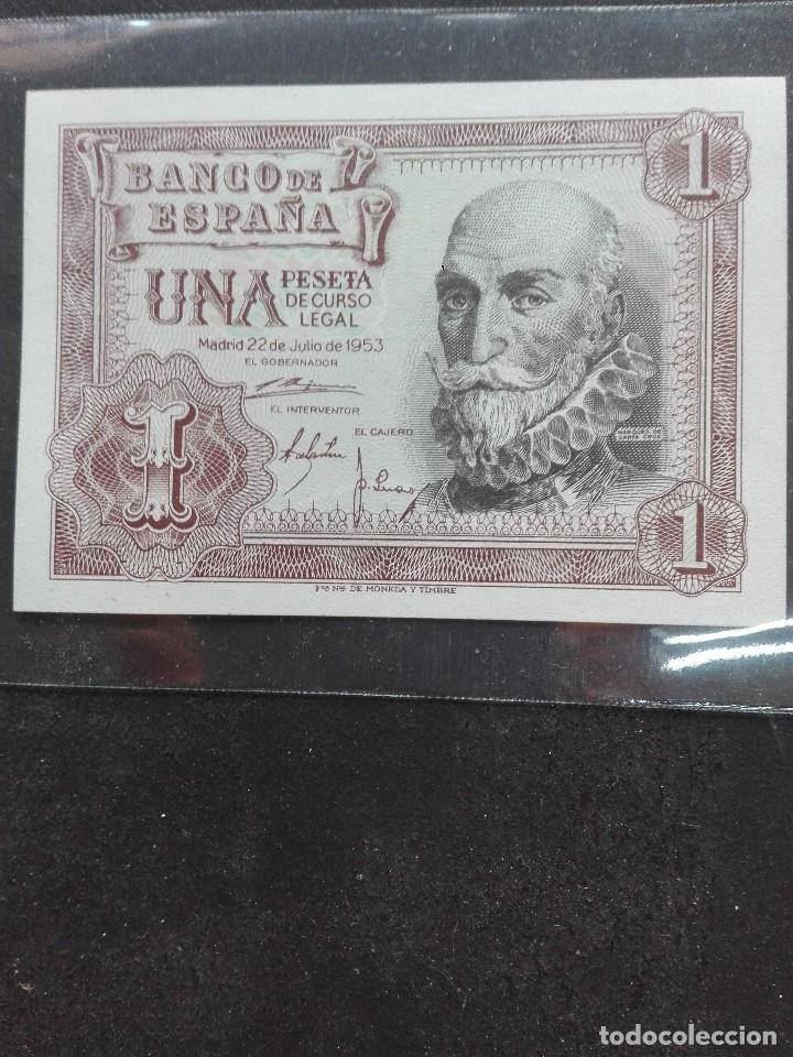 Monedas Franco: 1peseta. Estado español emisión abril1953 s/c - Foto 2 - 120903815