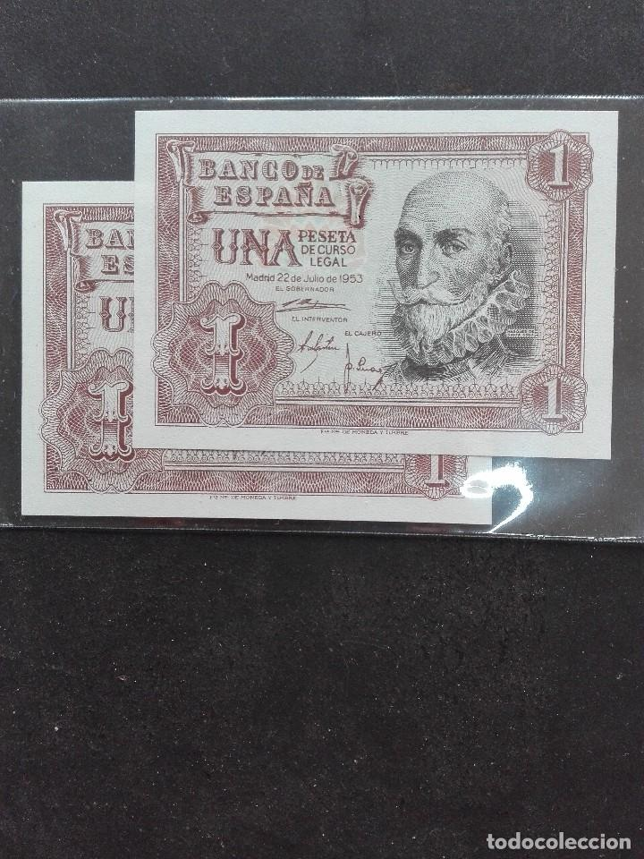 Monedas Franco: 1peseta. Correlativos Estado español emisión abril1951 s/c - Foto 2 - 120904255