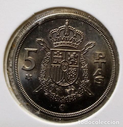 Monedas Franco: ESPAÑA - LOTE DE 5 PESETAS - 1975 * 76 HASTA 1975 * 80 - S/C - ENCARTONADA - CAT. Nº 40 - Foto 7 - 120968391