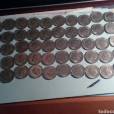 Monedas Franco: LOTE DE 50 MONEDAS DE CINCO PESETAS DE FRANCO. Lote 121036060