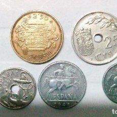 Monedas Franco: LOTE DE MONEDAS DE2,50 PESETAS, *54 ,10 CTMS AÑO 45, 5 CTMS AÑO 40, 25 CTMS AÑO 37, 50 CTMS,63*65. Lote 175792005