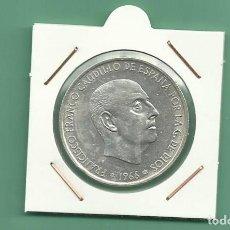 Monedas Franco: PLATA-ESPAÑA:100 PESETAS 1966 *67. 19 GRAMOS DE LEY 0,8. Lote 151909917