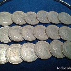 Monedas Franco: LOTE 18 MONEDAS 5 PESETAS FRANCO 1957 VARIAS ESTRELLAS. Lote 121532307