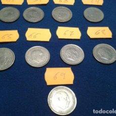 Monedas Franco: LOTE 9 MONEDAS 5 PESETAS FRANCO 1957 DISTINTAS ESTRELLAS ( 58- 59- 60- 64- 65- 66- 67- 68- 69 ). Lote 121533215