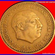 Monedas Franco: MONEDA DE ESPAÑA 1 PESETA AÑO 1953*56 . Lote 121656307