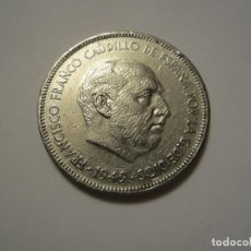 Monedas Franco: MONEDA DE 5 PESETAS DE FRANCO DE 1949*49 VARIANTE. Lote 122489159