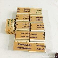 Monedas Franco: LOTE DE 11 CAJAS CON 400 MONEDAS DE 50 CENT CADA UNA, SC. Lote 128299439