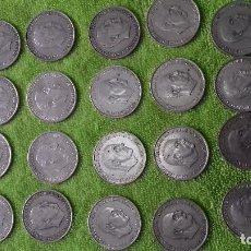 Monedas Franco: SEGUNDO LOTE DE 20 MONEDAS DE PLATA - 100 PESETAS FRANCO ( VARIAS FECHAS EN MUY BUEN ESTADO ). Lote 124268991
