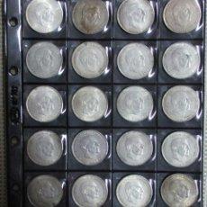 Monedas Franco: CONJUNTO DE 20 MONEDAS DE 100 PESETAS DE PLATA DEL ESTADO ESPAÑOL, VARIAS FECHAS. LOTE 1061. Lote 124429755