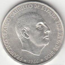 Monedas Franco: FRANCO: 100 PESETAS 1966 * 19-70 EXCELENTE - PLATA. Lote 124514223